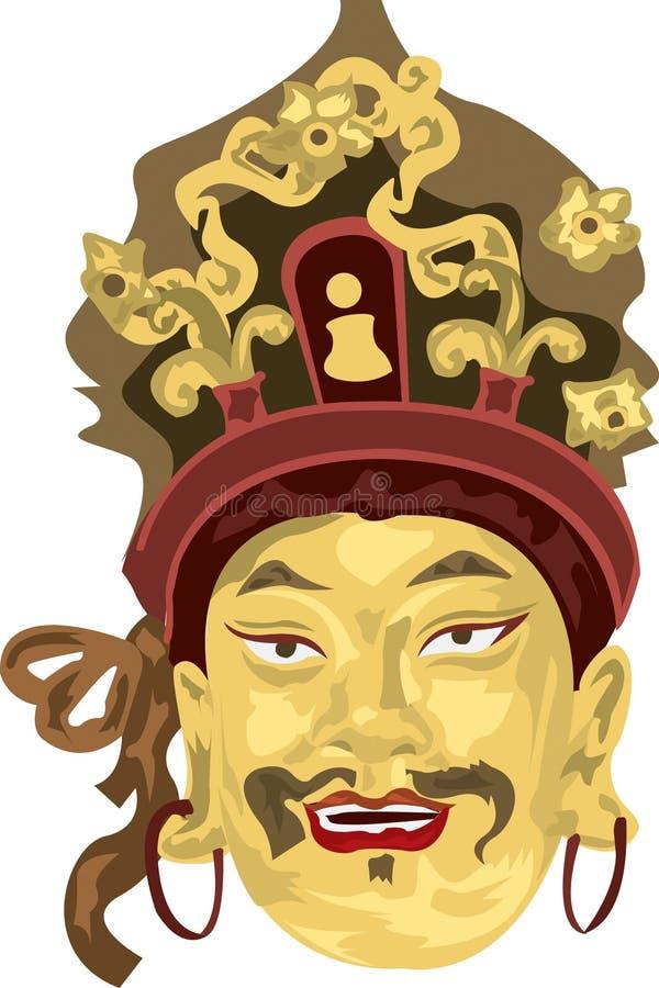 Figura asiática stock de ilustración
