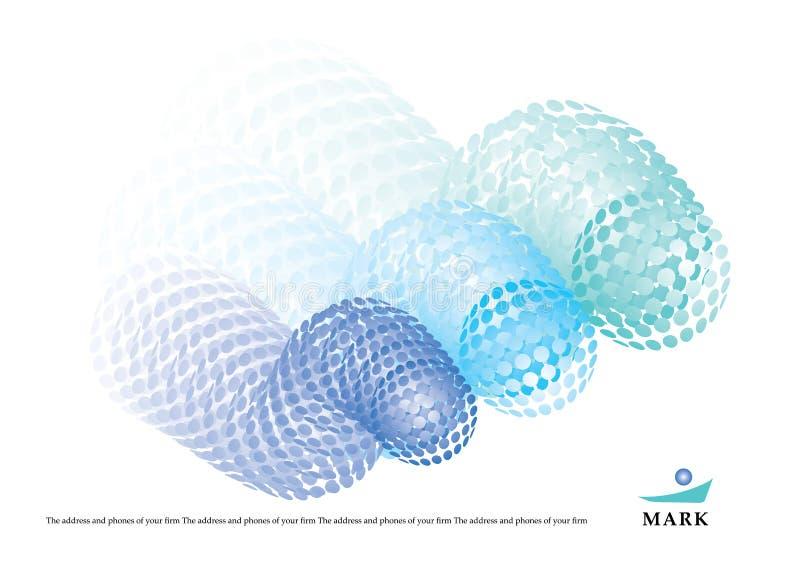 Figura astratta con le sfere dei puntini illustrazione vettoriale