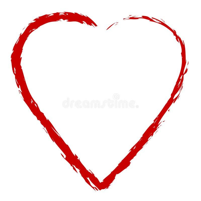 Download Figura astratta del cuore illustrazione vettoriale. Illustrazione di cuore - 7307961