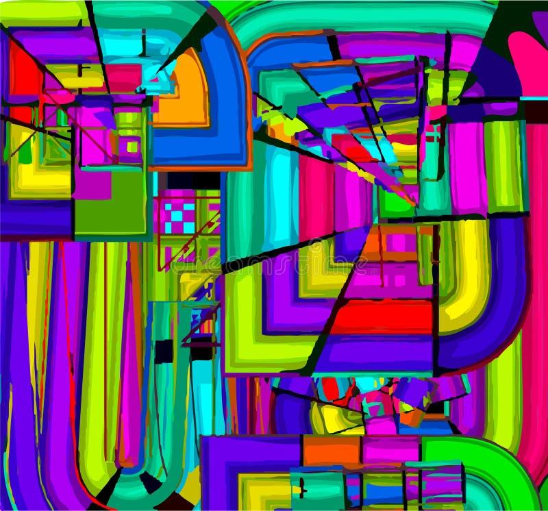 Figura astratta libera immagine stock