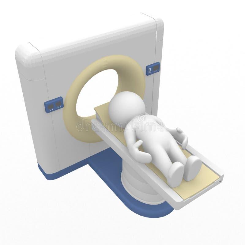 Figura astuta 3D in CT illustrazione vettoriale