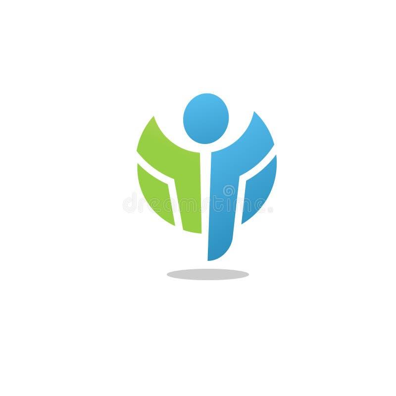 Figura ativa aptidão do logotipo e símbolo saudável ilustração royalty free