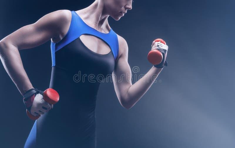 Figura atletica fotografia stock