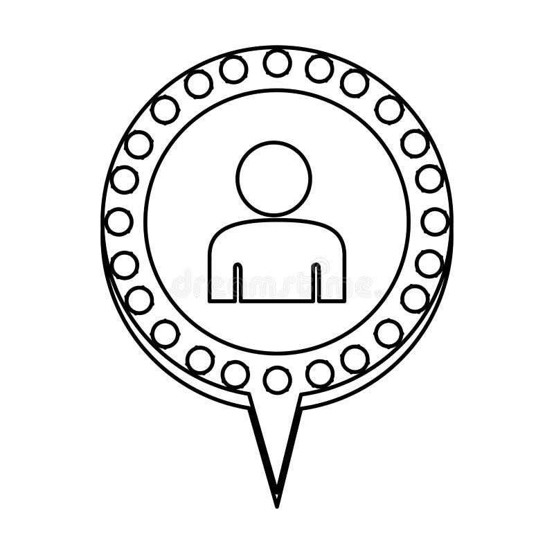 figura bolha do bate-papo com pessoa para dentro ilustração stock