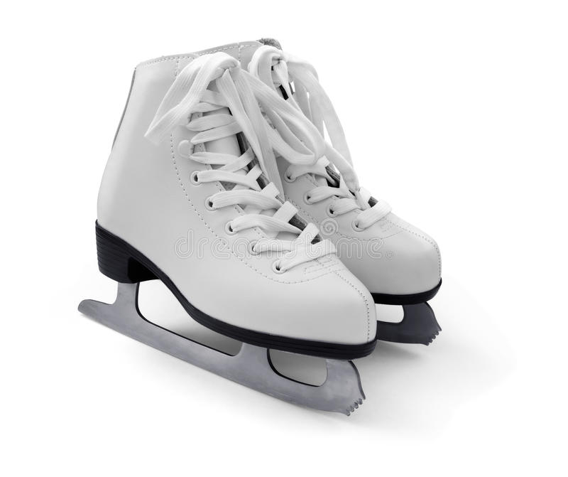 Figura branca patins de gelo fotos de stock