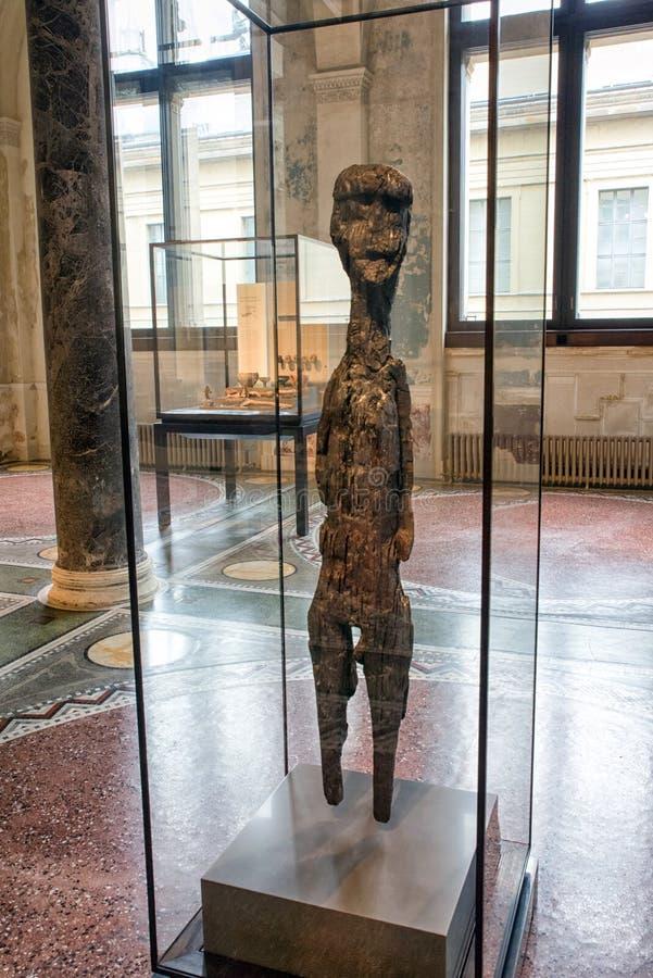 Figura céltica en el museo de Neues en Berlín imagen de archivo libre de regalías