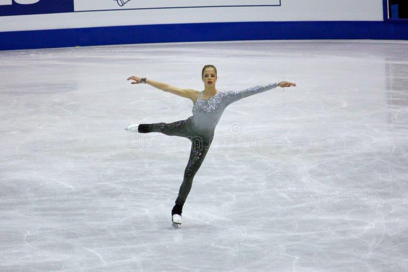 Figura campeonatos do mundo de ISU da patinagem foto de stock royalty free