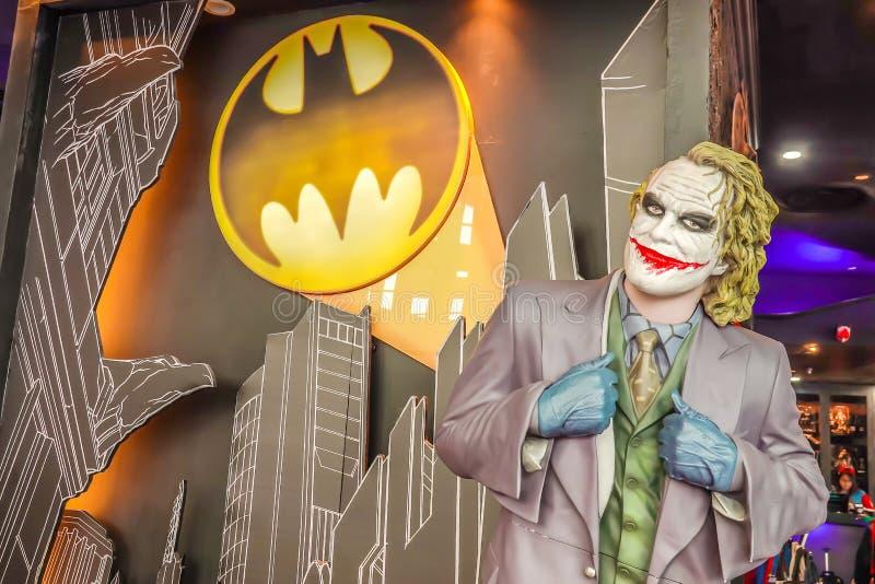 Figura caráter modelo de Joker de Batman o cavaleiro escuro dos filmes da C.C. imagens de stock