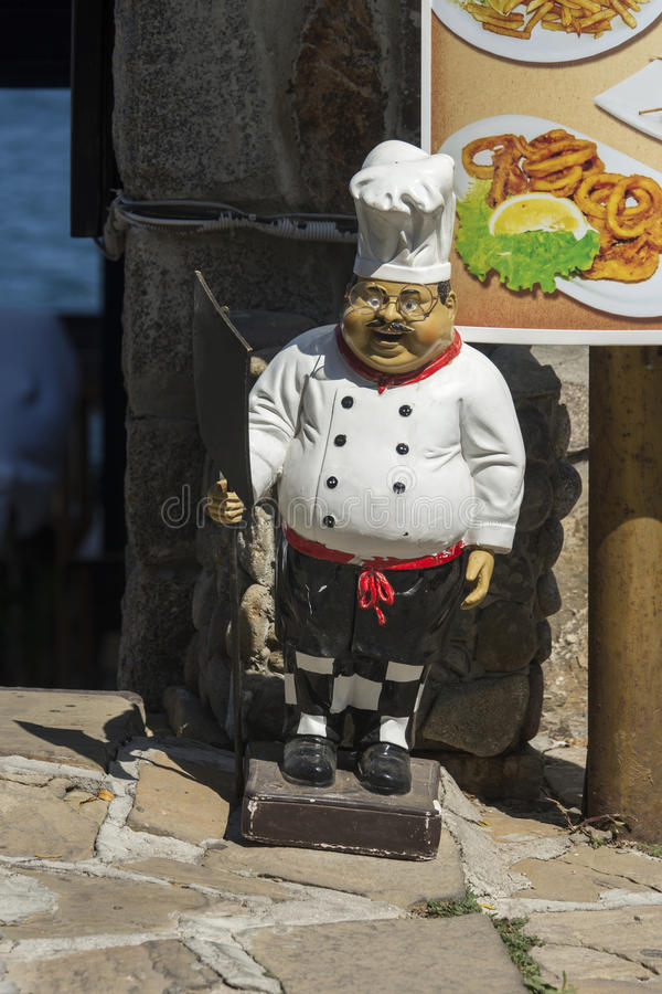 Figura cocinero del yeso fotos de archivo