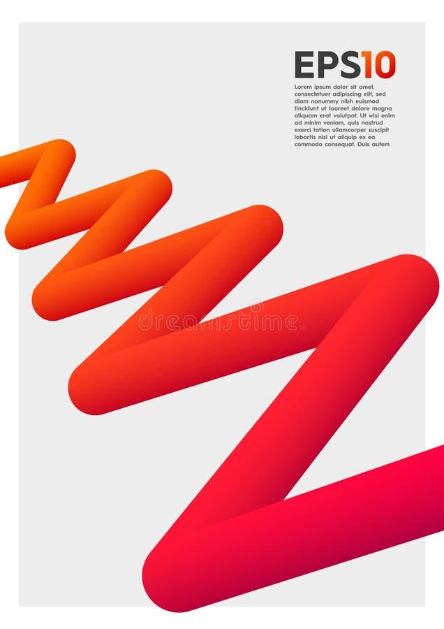 figura colorida abstracta 3D ilustración del vector