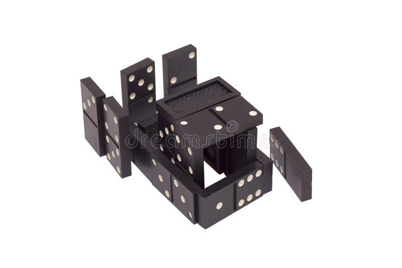 Figura construída do dominó das microplaquetas fotografia de stock royalty free