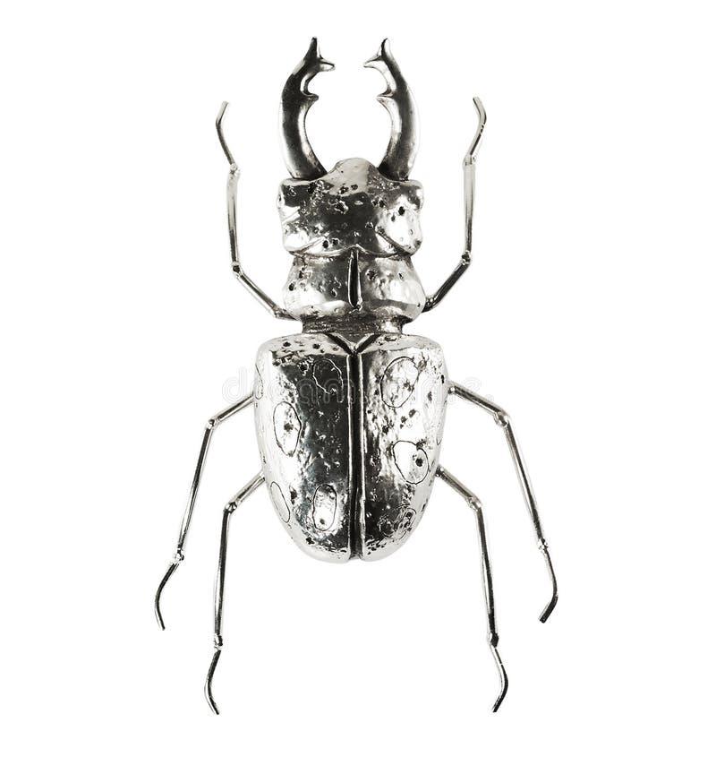 Figura d'argento dell'insetto immagine stock libera da diritti