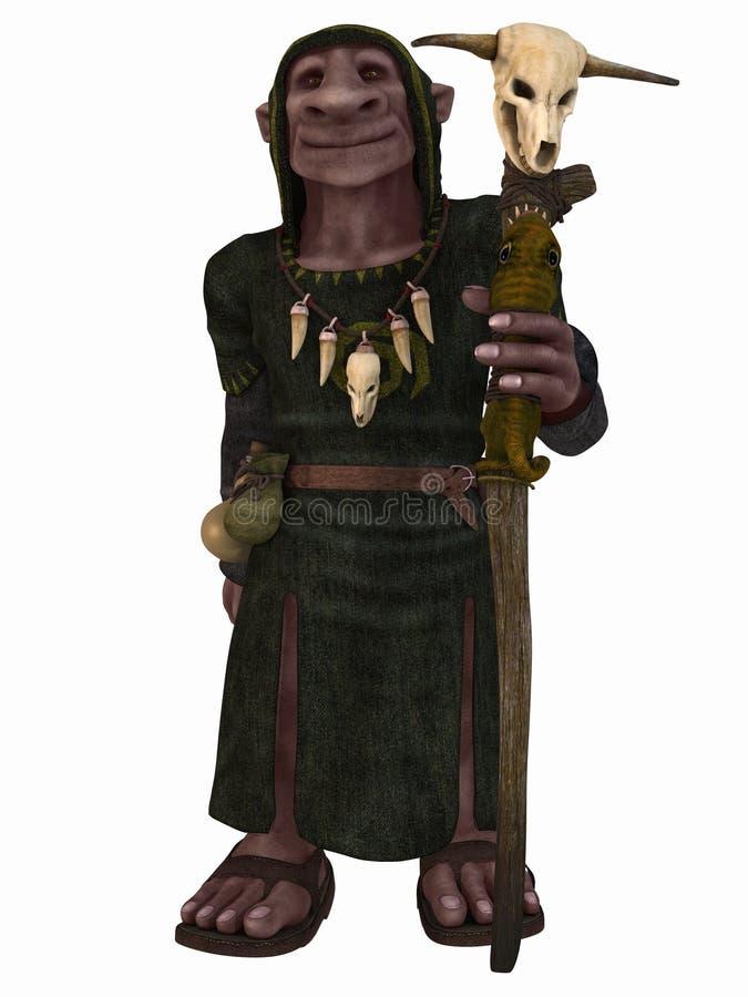 Figura da fantasia - Goblin ilustração stock