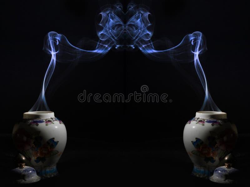 Figura da obscuridade do fumo imagens de stock royalty free