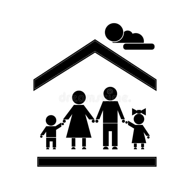 Figura da vara da família ilustração royalty free