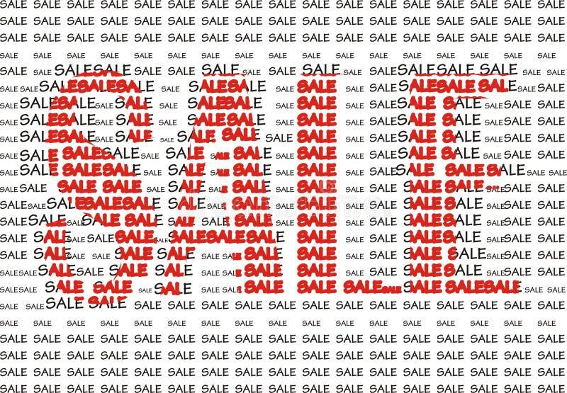 Figura da venda das palavras ilustração stock