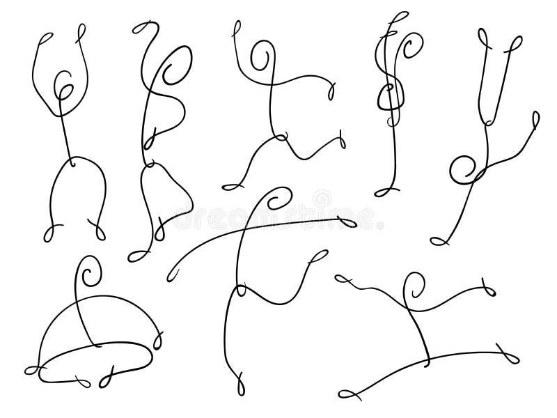 Figura dança e salto da vara ilustração royalty free