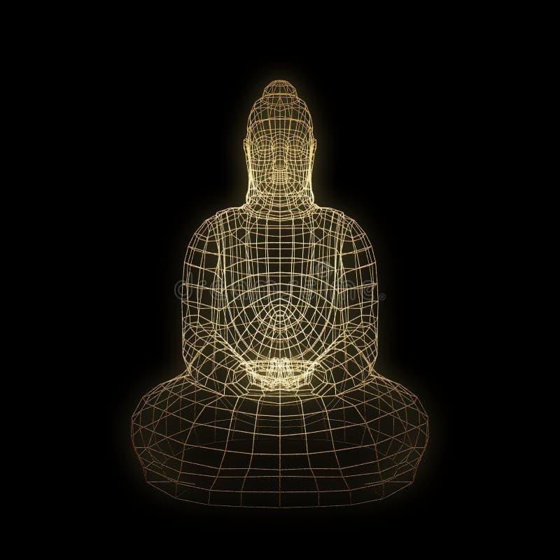 Figura de assento de Buddha ilustração stock