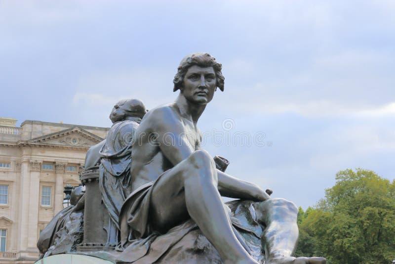 Figura de bronce ciencia imagen de archivo libre de regalías