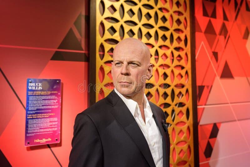 Figura de Bruce Willis en el museo de la cera de señora Tussauds en Estambul fotografía de archivo
