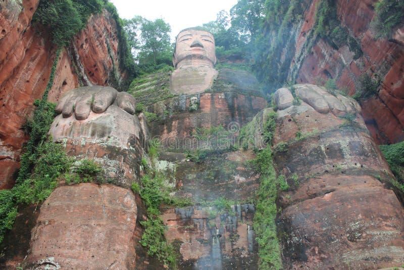 Figura de Buda en leshan de China fotos de archivo