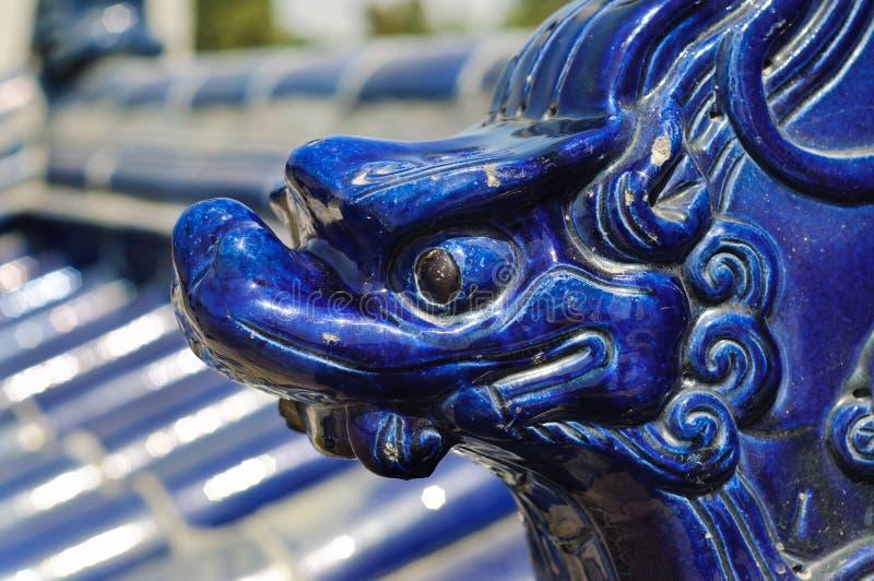 Figura de cerámica del dragón, templo del cielo, Pekín fotografía de archivo libre de regalías