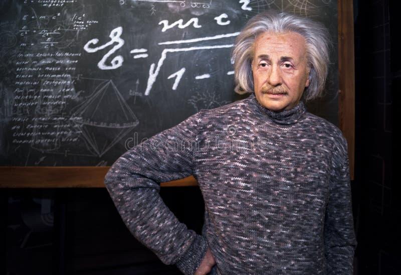 Figura de cera de Albert Einstein fotos de stock