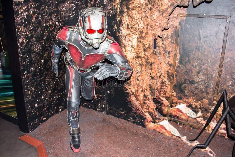 Figura de cera de Ant Man, Amsterdão da senhora Tussaud imagem de stock