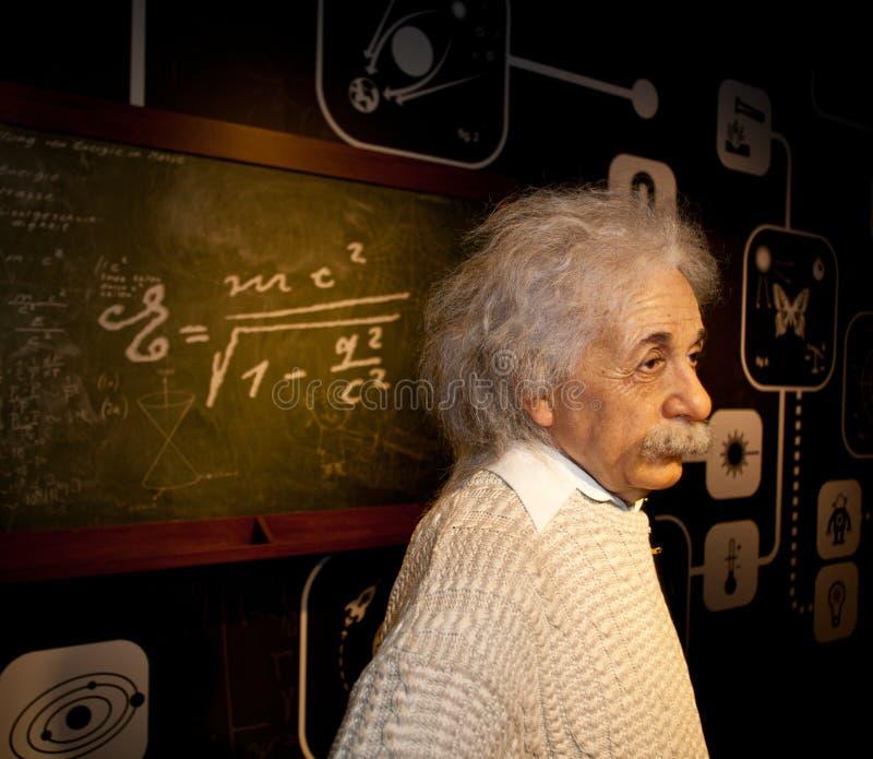 Figura de cera de Albert Einstein fotografia de stock