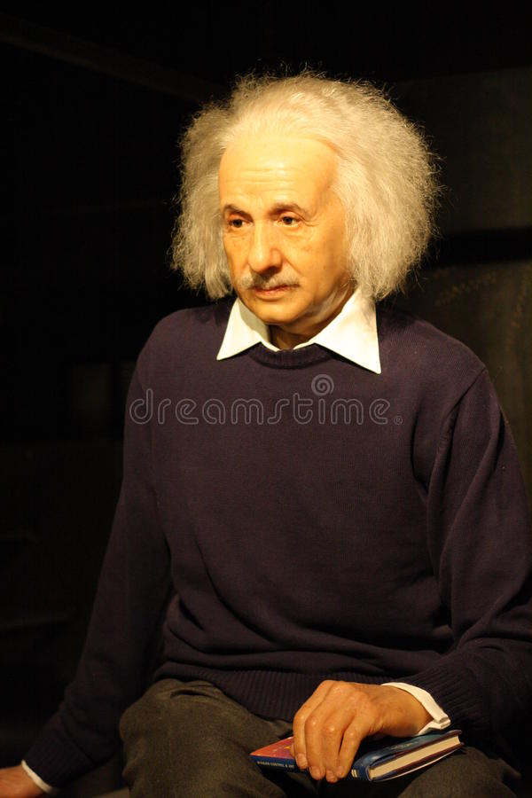 Figura de cera de Albert Einstein fotos de stock royalty free