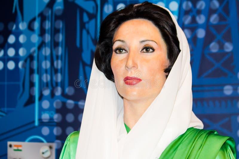 Figura de cera de Benazir Bhutto fotografía de archivo