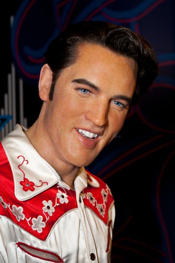 Figura de cera de Elvis Presley fotos de stock