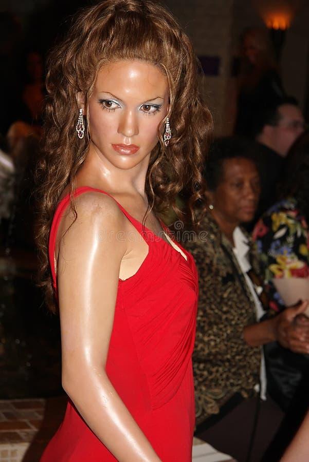 Figura de cera de Jennifer López imagen de archivo