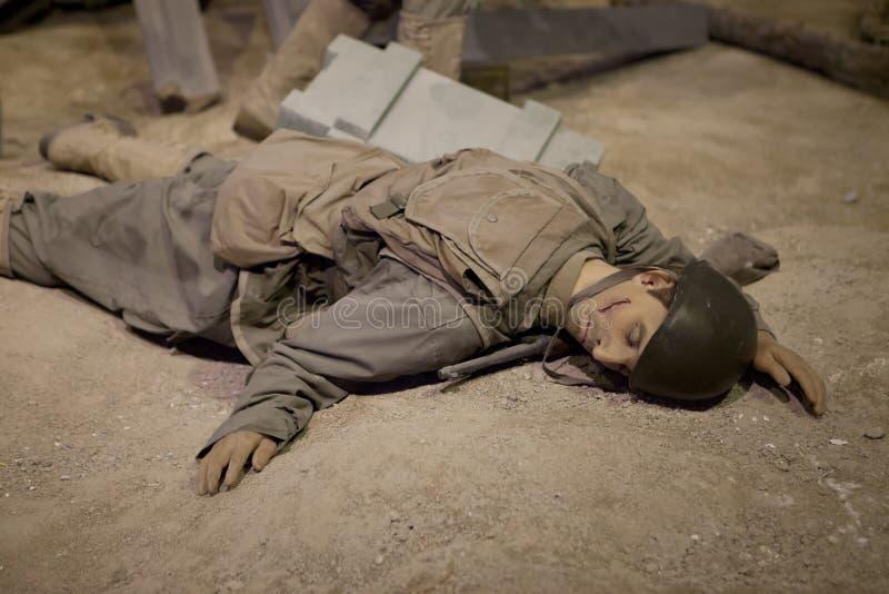 FIGURA de CERA de los soldados de la SEGUNDA GUERRA MUNDIAL fotografía de archivo libre de regalías