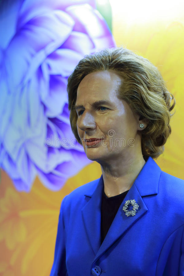 Figura de cera de Margaret Thatcher fotos de archivo