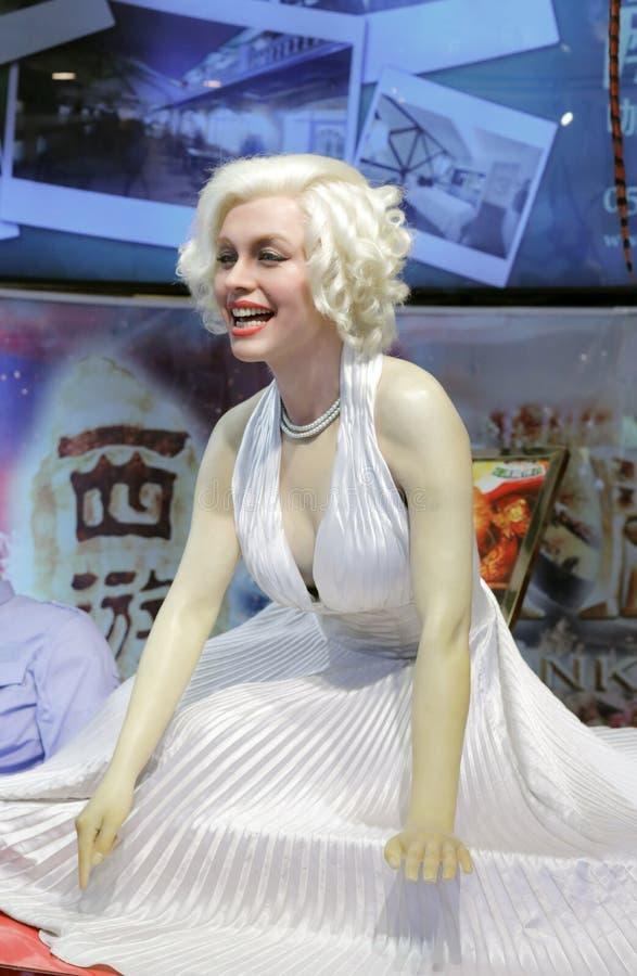 Figura de cera de Marilyn Monroe fotos de stock royalty free