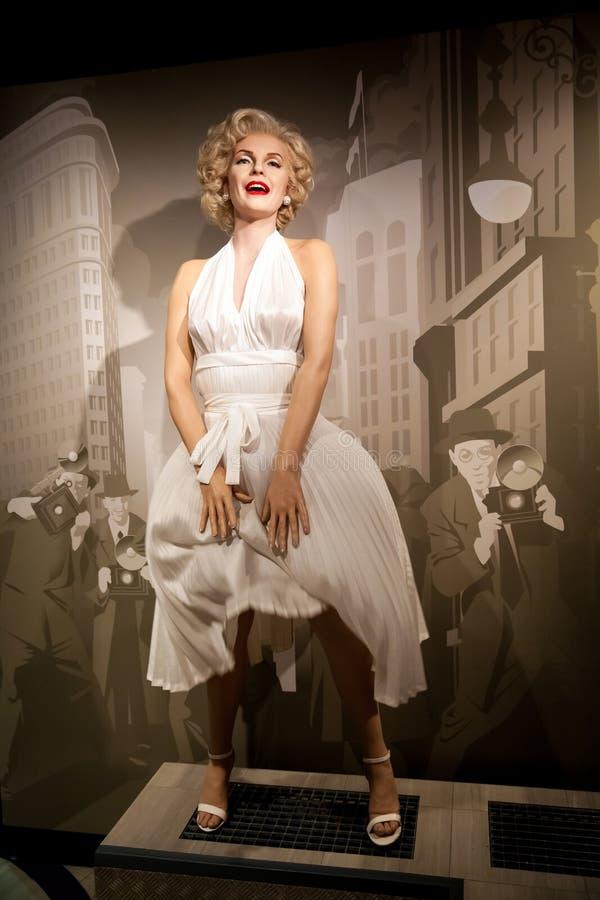 Figura de cera de Marilyn Monroe, de la actriz americana y del modelo en museo de señora Tussauds Wax en Amsterdam, Países Bajos foto de archivo