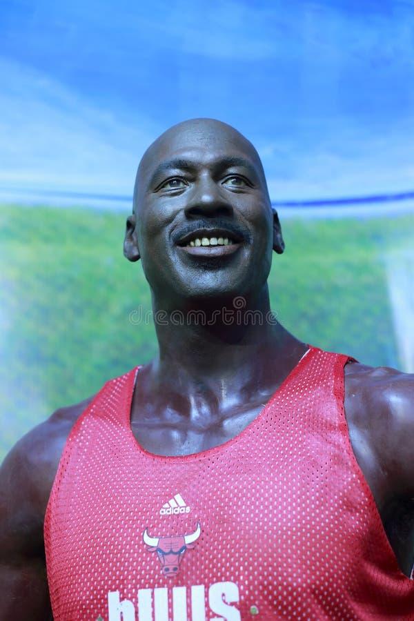 Figura de cera de Michael Jordan fotografia de stock
