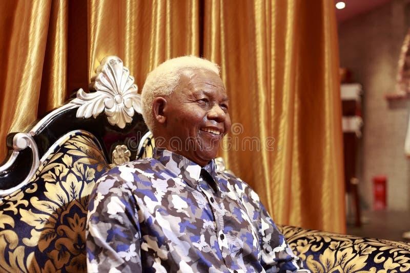 Figura de cera de Nelson Mandela imagem de stock royalty free