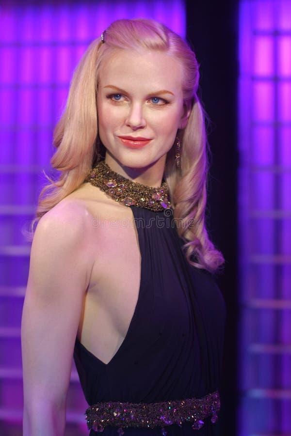 Figura de cera de Nicole Kidman en el objeto expuesto de señora Tussauds foto de archivo
