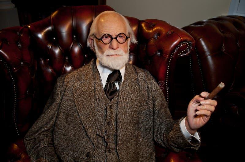 Figura de cera de Sigmund Freud fotografia de stock