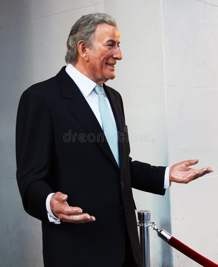 Figura de cera de Tony Bennett fotografia de stock royalty free
