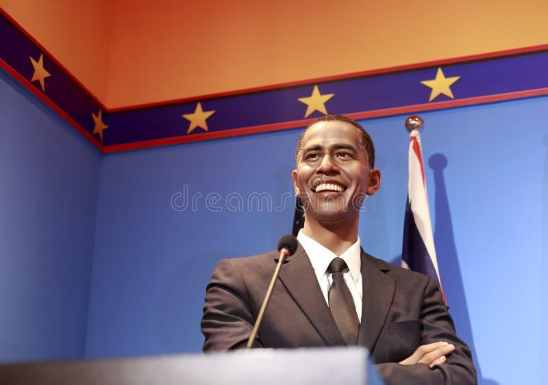 Figura de cera do presidente barak obama fotografia de stock