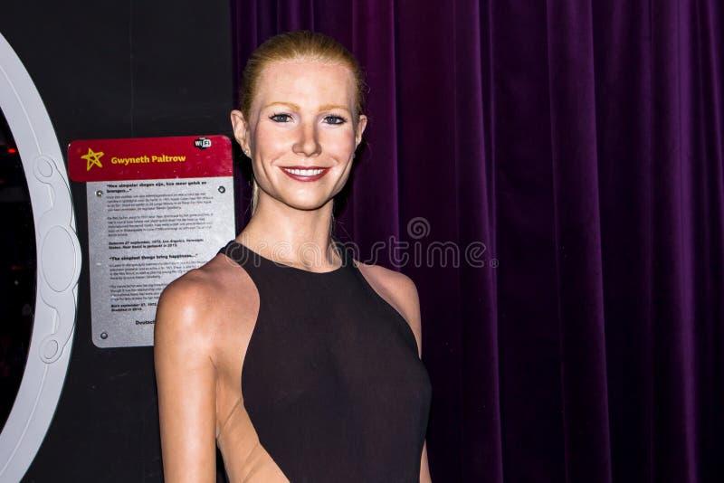 Figura de cera de Gwyneth Paltrow, Amsterdam de señora Tussaud fotografía de archivo libre de regalías