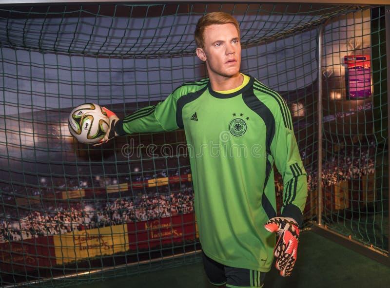 Figura de cera de Manuel Neuer fotografia de stock