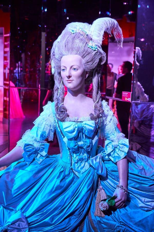 Figura de cera de Marie Antoinette fotos de archivo libres de regalías