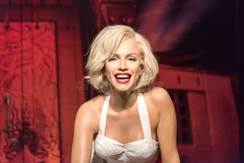 Figura de cera de Marilyn Monroe no museu da senhora Tussauds em Istambul imagens de stock royalty free