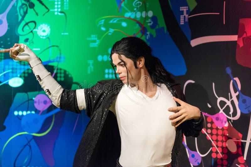 Figura de cera de Michael Jackson no museu da senhora Tussauds em Istambul imagem de stock