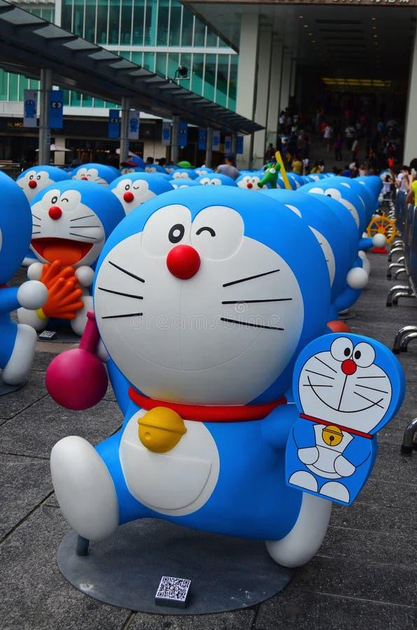 Figura de Doraemon con la mentira 800 foto de archivo libre de regalías
