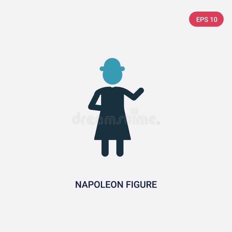 Figura de duas cores ícone de napoleon do vetor do conceito dos povos a figura azul isolada símbolo de napoleon do sinal do vetor ilustração stock